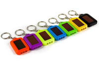 Wholesale Solar Powered Light Key Chains - Cute Model Solar Power Keychain LED Flashlight Light Lamp Portable Lighting Mini Key Chain 3 LED Lights Multi-color Rechargeable Xmas Gift