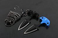 cuchillo fijo de acero inoxidable al por mayor-Nuevo 2016 Cold Steel Safe Maker Push Dagger Knife Mini Cuchillo de hoja fija Cuchillos de acero inoxidable 440 con espiga completa