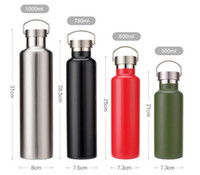 Wholesale Water Pots Kettles - Stainless steel vacuum cup Vehicle-mounted outdoor mountaineering Space pot Creative hand - size gift water cup