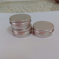Wholesale Cosmetic Accessories - 100pcs lot Screw on Lids Aluminium Jars Cream Jars with Screw Lid,Cosmetic Case Jar,15ml Aluminum Tins, Aluminum Lip Balm Container
