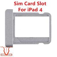 Wholesale Ipad Sim Card - For iPad 4 Original New SIM Card Tray for iPad 4 Sim Card Tray Holder Slot Replacement Repair Parts for iPad4
