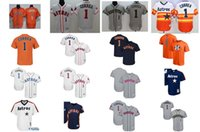 Wholesale Xl Girls - 2017 All-star Houston Astros Men Girl Boy Carlos Correa Memory fahter mother Stars&stripes FLEX COOL Baseball Jerseys Grey Orange White blue