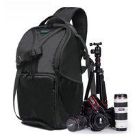 Wholesale Large Slr Camera Bags - New Outdoor SLR DSLR Camera Backpack Professional Waterproof Camera Bag Large Capacity For Camera Lens and Tripod.