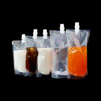 Wholesale Spout Pouch Wholesale - 500ml juice milk coffee beverage liquid transparent blank plastic stand up spout pouch bag