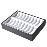 Wholesale watch display trays - 2018 New White & Black 20 Bracelets Bangles Watches PU Leather Jewelry Display Stand Box,Jewelry Display Tray