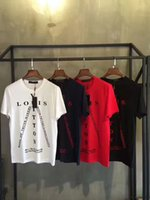 Wholesale 2017 New summer tide brand europe tag clothing men Louis Letter print t shirt men tee tops tshirt hip hop