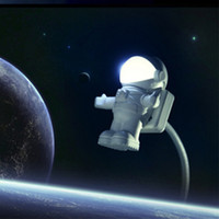 Spaceman Astronaut LED Night Light USB Desk Lamp Ordinateur PC / Keyboard Notebook LED Flexible USB Light Reading Portable Lamp Book Lights