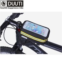 Wholesale Road Bike Bags - DUUTI Rainproof Bicycle Front Bags Double Zipper MTB Mountain Road Bike Touch Screen Phone Bags Reflective Bicycle Accessories