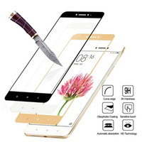 Wholesale Toughened Glass Wholesale - Full Cover Tempered Glass For Xiaomi Redmi 4 4A 4Pro 4 Prime Redmi Note 4 Pro Note 4X Colorful Screen Protector Toughened Film