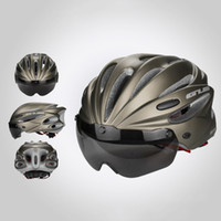 Wholesale Helmet Gub - GUB Top Magnetic Goggles Cycling Helmet Ultralight Bicycle Helmet With Lens & Sunvisor Casco Ciclismo 56-62 CM Bike Helmet