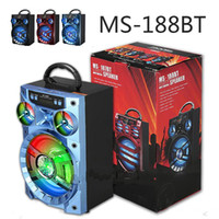 Wholesale Big Box Speakers - MS 188BT Big Sound Outdoor Music HiFi Speaker Large Portable Speakers Bass Wireless Subwoofer Outdoor Music Box TF FM AUX Radio