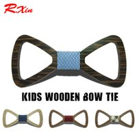 Wholesale finished wood products - Hollow Wood Bowtie 20 styles 10*4.5cm For child Handmade Vintage Traditional Bowknot For business finished product DIY Wooden Bow tie