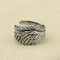 Wholesale Vintage Wing Ring - 925 sterling silver fashion jewelry vintage style band ring eagle wing design open end adjustable for men and women wholesale free shipping