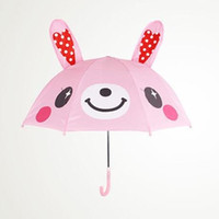 Wholesale cartoon kids umbrellas - Lovely Cartoon Ear Umbrella 3D Modelling High Quality Multi Function Umbrellas Light Easy To Carry For Kids Gifts 15sx R