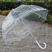 Wholesale Stylish Simplicity Bubble Deep Dome Umbrella Apollo Transparent Umbrella Girl Mushroom Clear Bubble Umbrella