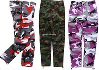 Wholesale Camouflage Cargo Woman - Camouflage Men's Cargo Pants Full Length 2017 Spring Multy Camo Hip Hop Pants Men Women Streetwear Toursers Men 8 Colors