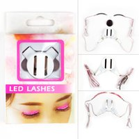 Wholesale Eyelashes For Halloween - Cosmetics Tool Led Flash False Eyelashes Last for Over 4 Hours Best Choice for Music Festival Halloween Birthday Party Night Running Unisex