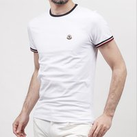 Wholesale Male Logos - 2017 Fashion Brand New men's T-shirt Brand LOGO Embroidery t shirt Casual loose fit Short Sleeve O-neck Tops Tees male tshirt High Quality