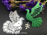 Wholesale Diy Punch - METAL CUTTING DIES peace dove bird pigeon DIY Scrapbooking card album paper craft party decor stencils punch cuts dies cutting