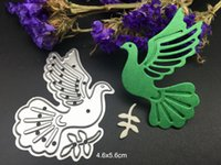 METAL CUTTING DIES peace dove oiseau pigeon DIY Scrapbooking carte album papier artisanat fête décoration pochoirs punch coupes découpage coupe