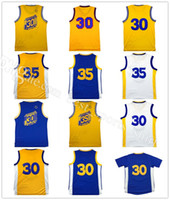 Wholesale Dry Sell - 30# Stephen Curry basketball jerseys Best Quality 35 Kevin Durant Curry Shirt Uniforms Fashion Breathable Pure Cotton Hot Selling