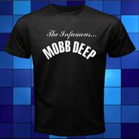 Wholesale Deep Neck T Shirts Men - New Mobb Deep The Infamous Rap Hip Hop Music Black T-Shirt Size S To 3XL T Shirt Hot Topic Men Short Sleeve