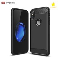 Wholesale Shock Absorption - Rugged Armor Case for iPhone 8 Samsung Galaxy S8 Plus with Anti Shock Absorption Carbon Fiber Design with Retail Box