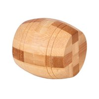 3D Eco-friendly bamboo wooden toys brain teaser burr adults puzzle educational kids unlocking games for Early Education