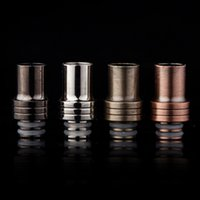 Wholesale E Cig Clearomizers - New Stainless Steel Wide Bore Drip Tip 510 Metal Drip Tip Mouthpieces Fit 510 E Cig Clearomizers Mechanical Mods Tanks DHL Free