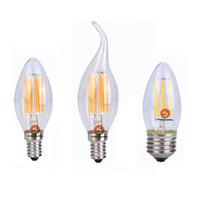 Wholesale e12 dimmable candle bulbs for sale - Group buy 360 degree LED Filament Bulbs W W W Dimmable E12 E27 B22 E14 LED candle bulb lights Warm Cool White V V