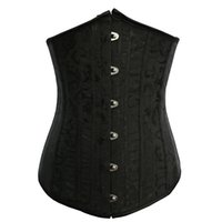 Wholesale steel boned corset sale resale online - On Sale Waist Train Underbust Bustiers Steel Bone Corset Cincher Corselet Breathable High elastic girdle