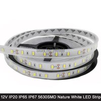 Vente en gros-5M 12V 5630 LED Strip Light Neutre Blanc Naturel Blanc 60LED / M IP20 Non-étanche IP65 IP67 étanche Flexible LED Bande DC12V