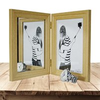 Wholesale Wood Photo Frames Wholesale - Wood Classic Photo frame 6 7inch Foldable Practical decoration Living room Photo frame Put mirror or Portrait in