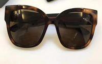 Wholesale Women S Rimless Eye Glasses - Women Black Havana Grey 0059 S Sunglasses Stud Acetate Frame Designer Brand Sunglasses Cat Eye New with Case Box
