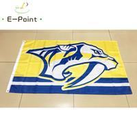 нэшвилл хоккей оптовых-Нэшвилл хищники Национальная хоккейная лига (НХЛ) 3*5 футов (90 см * 150 см) полиэстер флаг баннер американские украшения летающий флаг дома сад