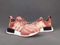 Wholesale Raw Canvas - NMD R1 Raw Pink Running Shoes Women NMDS R1 Raw Pink Sneakers For Sale Size US 5-8 Come With Box Free Shipping