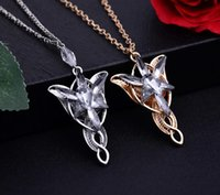 Wholesale Male Mixed Charms - Lord of the Rings Lord of the Rings elves dusk necklace twilight star male ladies pendant WFN419 (with chain) mix order 20 pieces a lot