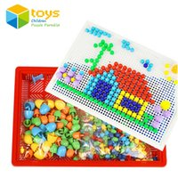 Wholesale Picture Blocks - Wholesale- Models Building Toy Blocks Kits DIY Creative Mosaic Nail the Composite Picture Flapper Educational Toys for Children Kids Gift