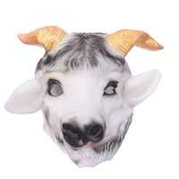 Wholesale Goat Prop - Halloween Goat Latex Masks Animal Head Scary Creepy Goat Mask Cosplay Mask for Party Monster Mask Props Maskers
