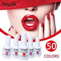Großhandel-FairyGlo 15ml Gel Nagellack Langlebige UV-LED Gelpolish 1 stücke Tränken Vernis Semi Permanent Gel Lak DIY Nail art Gelpolish