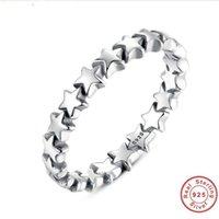 porzellan 925 silber preis ring großhandel-Star Trail stapelbar Fingerring für Frauen Hochzeit 100% 925 Sterling Silber Schmuck neue Kollektion Großhandelspreis