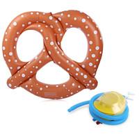 şişme oyuncak pompası toptan satış-Toptan Satış - Havuz Şişme Ekmek Yüzen Satır Yüzme Yatak Su Toy Su Sporları Yüzme Aksesuarları İçin Pompa ile Plaj Tekne