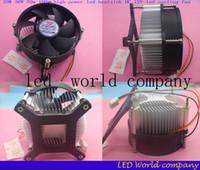 Wholesale 12v Radiator Fan - Wholesale-Hot 20W 30W 50w 100w high power led heatsink DC 12V led cooling fan led high power LED bulb radiator 1pcs lot free shipping
