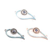 ECO-Friendly Evil Eye Micro Pave Charm Metal Stamping Crafted Connector, ICSP025, Tamanho 26.5 * 13.3 mm