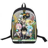 Wholesale Girls Open Strings - Wholesale- Sword Art Online Backpack For Teenager Boys Girls School Backpack Asuna Asada Shino Backpacks Women Men Bag Kids School Bags