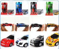 Wholesale Micro Racer Toy - HOT 8 color Mini-Racer Remote Control Car Coke Can Mini RC Radio Remote Control Micro Racing 1:64 Car perfect as gift JC116