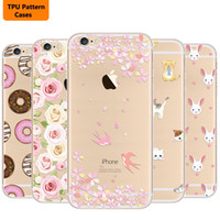 Wholesale Slimming Plant - Animal plant Pattern Soft TPU PU Leather Ultra Slim Thin Back Cover Case For iPhone 7 case iphone 7Plus case 6 6S SE 5 5S