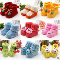 Wholesale Kind Baby Shoe - Baby Socks by hand knitting baby baby woollen stockings children warm shoes 20 kinds of design