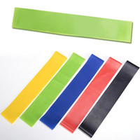Wholesale Beautiful Bodybuilding - Yoga Resistance Bands Bodybuilding Auxiliary Tools Tension Ring Small Beautiful Portable Good Tension Shelf Colorful Easy Latex 5 8sh J
