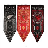 Wholesale Games Flag - New Game of Thrones Tournament Banner, Stark family, Lannister flag for Home  Bar Party decoration Hot selling Free shipping